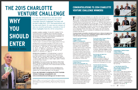 article about why you should enter the 2015 charlotte venture challenge