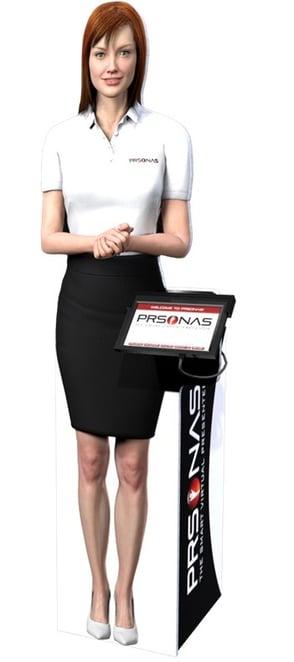 prsonas interactive hologram named angi