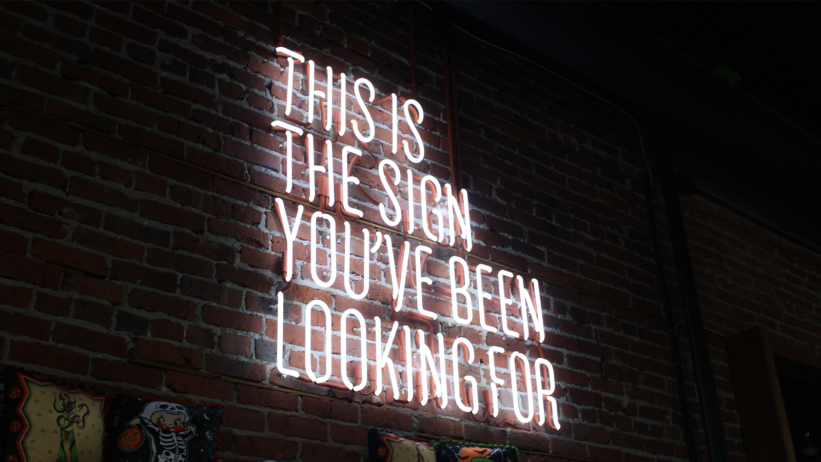 a neon sign that says