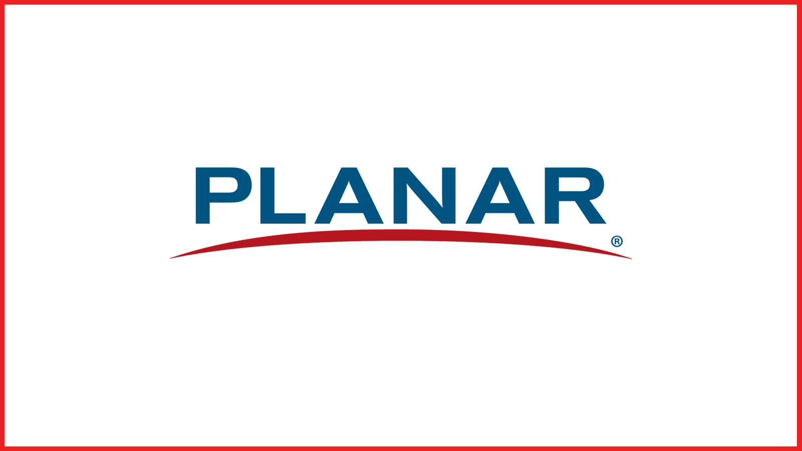 planar® logo with red border