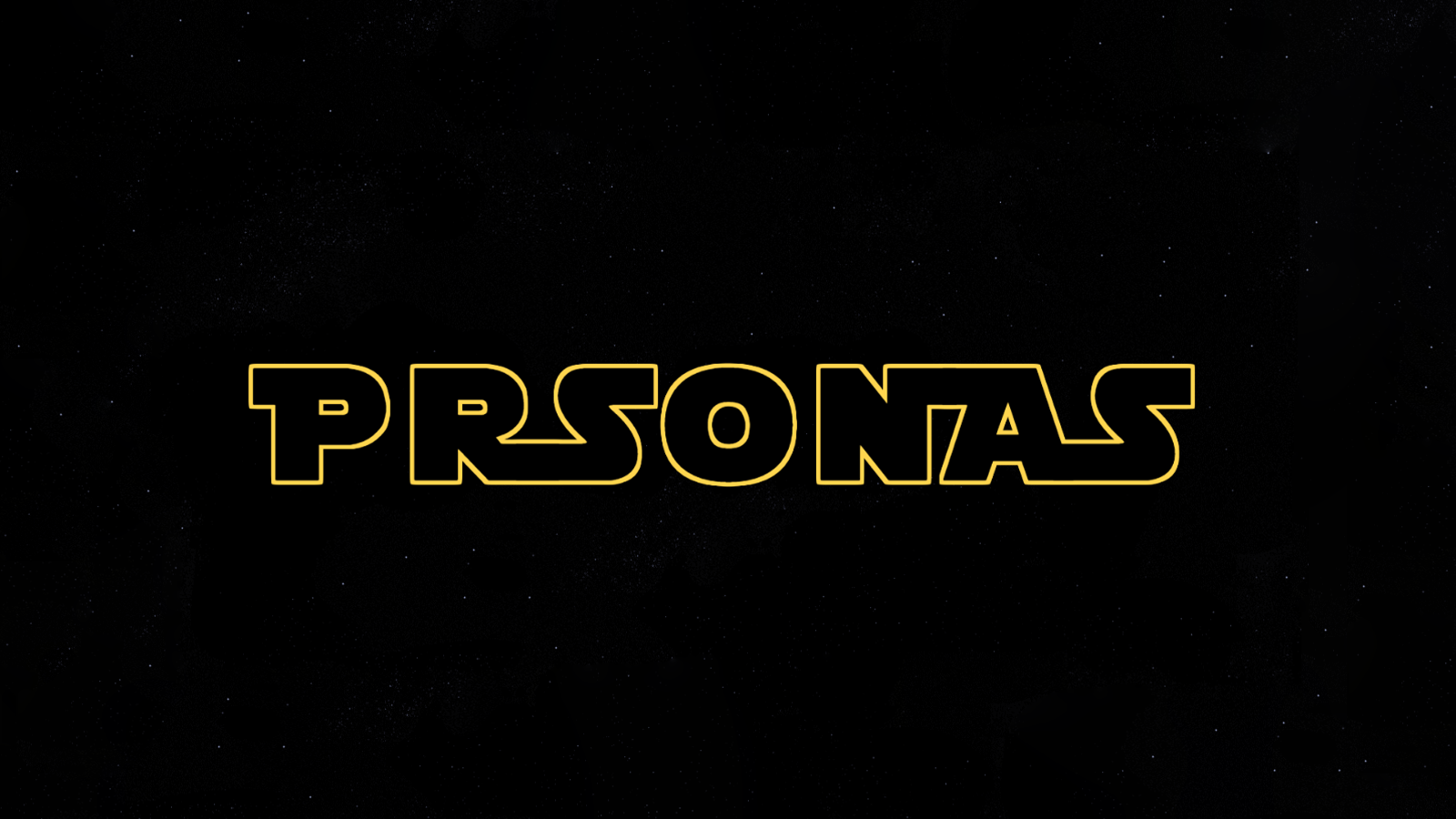 logo that says prsonas but it is written in star wars intro text