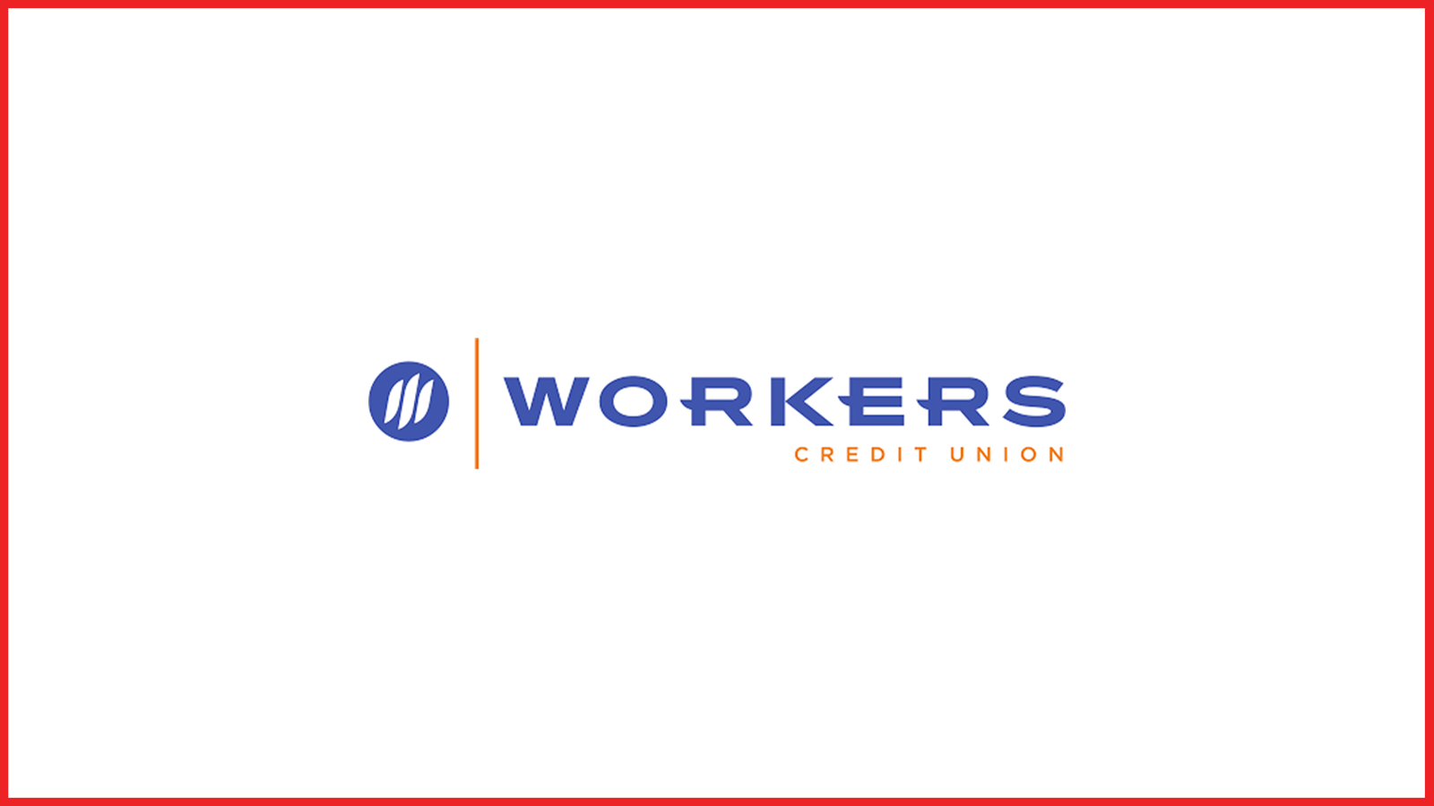 workers credit union logo with red border